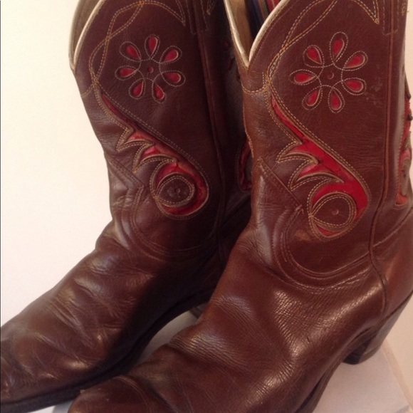 """a69d347b774 Vintage """" Shorty"""" Acme Women's Cowboy Boots 9 1/2"""